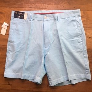 Cremieux Madison Light Blue Golf Flat Front Shorts
